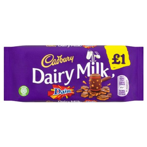 Dairy Milk Daim Chocolate Bar Cadbury 120g